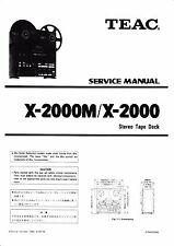 Service Manual-instrucciones para TEAC x-2000, x-2000m