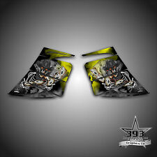 SKI-DOO REV MXZ SNOWMOBILE WRAP GRAPHIC SIDE PANEL DECAL 03-07 OUTLAW YELLOW