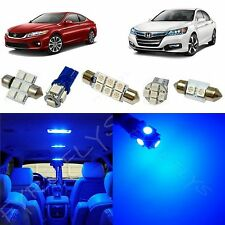 12x Blue LED lights interior package kit for 2013-2016 Honda Accord HA2B