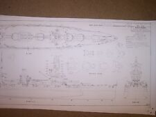 japanese BB FUSO 1934-5 arrg. ship model boat plans