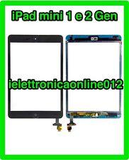 Nero Per iPad mini 1 1st e 2 2st TOUCH SCREEN VETRO SCHERMO Completo di IC