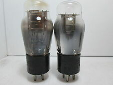 PAIR NATIONAL UNION #26 ST 4 Pin VACUUM TUBES Engraved Base TESTED #10.@688
