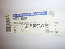 used ticket CYPRUS - GEORGIA 28.03.2009