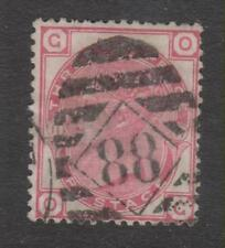GB - Queen Victoria 1873 3d Plate 11 Used, 88 Grid Cancel (2 scans)