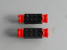 Lego Train - 2 x Black and Red Wheels (gmt07)