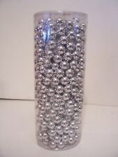 25 FT SHINY SILVER BEAD GARLAND CHRISTMAS PROMS WEDDINGS PATRIOTIC DECORATION