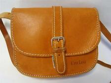 VINTAGE CITYLINE TAN BROWN LEATHER SATCHEL BELT LOOP HANDBAG SHOULDER BAG