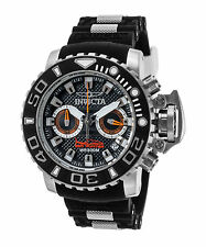 Invicta 20472 Men's Sea Hunter Chronograph Black Silicone and Dial