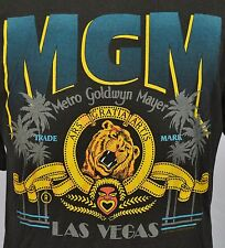 VTG MGM Las Vegas T-Shirt 50/50 Blend XL Made in USA Soft Thin Black Grand