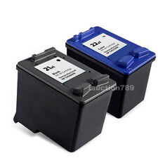 6 Ink Cartridge HP21 Black + HP22 Colour for Deskjet D1460 D1560 F2180 F2275