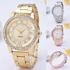 Hot Women's Girl's Crystal Stainless Steel Analog Quartz Wrist Watch New