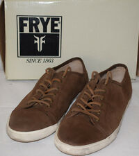 Frye 71125 Mindy Low Dark Brown Nubuck Leather Shoes UK8 Sneakers Trainers
