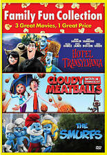 Cloudy with a Chance of Meatballs/Hotel Transylvania/The Smurfs (DVD, 2015) New