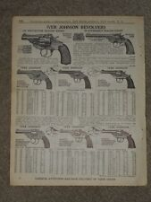 Original 1940 Iver Johnson Revolvers Price List AD Catalog Page