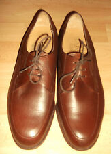 BARKER Flex Deep BROWN LEATHER lace-up MIE formal office Shoes 7 UK H VGC