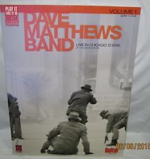 Dave Matthews Band Live in Chicago 12.19.1998 volume 1 guitar song book