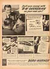 1951 vintage ad for Borg Warner, Overdrive auto transmission  -060412