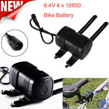 USB DC Rechargeable 6000mAh 4X18650 Battery Pack For Bicycle light Bike Torch UK