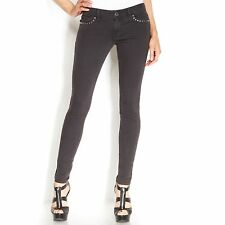 NWT Michael Kors Skinny Faded Black Wash Studded Jeans 4 $165