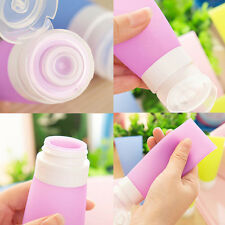 Portable Silicone Travel Bottles Empty Squeezable Lotion Shampoo Container