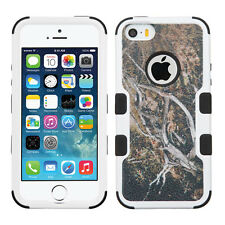 Apple iPhone 5 5S SE IMPACT TUFF HYBRID Case Skin Phone Cover Yellow Black Vines