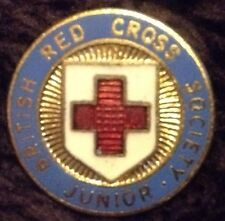 British Red Cross Pin Badge Junior 60's Rare