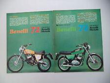advertising Pubblicità 1972 MOTO BENELLI 125 2C/125 CROSS