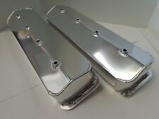 SB Chevy Fabricated Aluminum Tall Valve Covers SBC Centerbolt Vortec 5.7 350 305