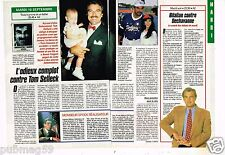 Coupure de presse Clipping 1991 (1 page 1/2) Complot contre Tom Selleck