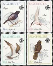 Seychelles 1989 Parrot/Terns/Magpie Robin/Birds/Nature/Maps 4v set (n44254)