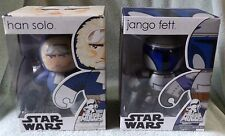 STAR WARS MIGHTY MUGGS 2008 HAN SOLO & JANGO FETT SETS