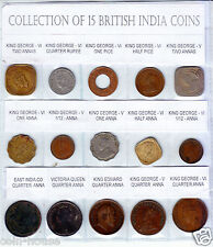 1835 - 1947, British india Coins - 1/12, 1/4, 1/2, 1 & 2 Anna, Pice & 1/4-Rupee