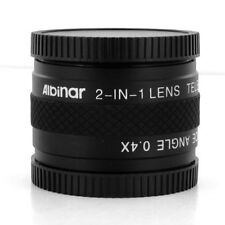 40.5mm 2-in-1 Lens Tele 1.7x/0.4x Wide angle for camera Pentax Q Q7 Q10 5-15mm