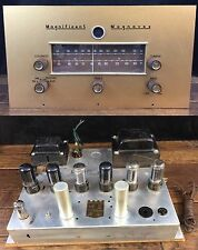 Magnavox 142AA Monoblock Tube Amp & CR712CB Preamp Tuner Working See Video Demo