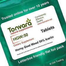 120 Tabs 50% Icariin Horny Goat Weed. Helps Recovery & Improves Sexual Function