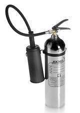 Jockel Design Feuerlöscher 5kg CO2 Kohlendioxid Chrom Silber
