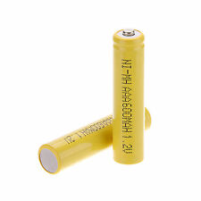 New Arrival 2Pcs AAA 3A 600mAh 1.2 V NI-MH Rechargeable battery Yellow Color