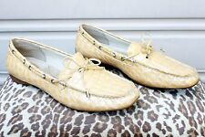 Sperry Top Sider Sconset Champagne Yellow Croc Patent Leather Boat Shoes 9.5