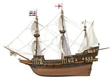 "Beautiful, brand new wooden model ship kit by OcCre: the ""Golden Hind"""