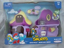 The Smurfs Smurfettes Mushroom House 2009 Release NEW NIB Jakks Pacific