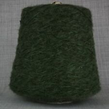 SUPER SOFT DK YARN GREEN TWEED 500g CONE 10 BALLS HAND MACHINE KNIT MOHAIR FEEL