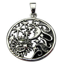 Sterling  Silver  (925)  Sun, Moon And Stars   Pendant    !!     Brand New  !!