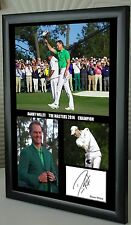 "Danny Willett The Masters Golf Framed Canvas Tribute Print Signed ""Great Gift"""