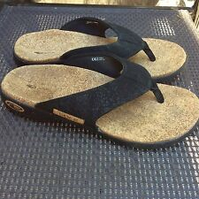 SOLE Sport Flip Flops Black Sandals Size 7