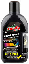 Turtle Wax Colour Magic Car Polish Wax Restorer 500ml + Chipstick Pen BLACK