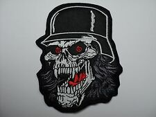 SLAYER SKULL  SHAPED     EMBROIDERED  PATCH
