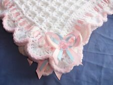BABY BLANKET CROCHET PATTERN, CHRISTENING SHAWL,AFGHAN,.DK. GIRL.SECRET HOOD..