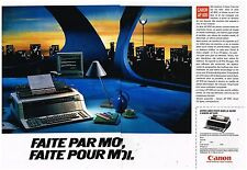 Publicité Advertising 1987 (2 pages) La Machine à écrire Canon AP 800