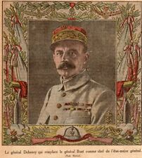 IMAGE 1924 PRINT GENERAL DEBENEY CHEF D ETAT MAJOR