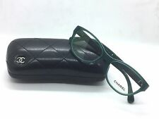 CHANEL 3309Q 1447 Emerald Green Quilted Patent Leather RX Eyeglasses NWC 53MM